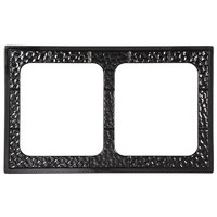 GET ML-169-BK Full Size Black Melamine Adapter Plate with Two Cut-Outs for ML-177 3 Qt. Casserole Dishes