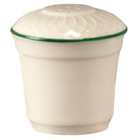 Homer Laughlin 1430-0321 Green Jade Gothic Off White 2 3/4 inch China Salt Shaker - 36/Case