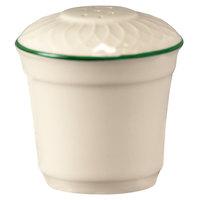 Homer Laughlin 1430-0321 Green Jade Gothic Off White 2 3/4 inch China Salt Shaker - 36/Case