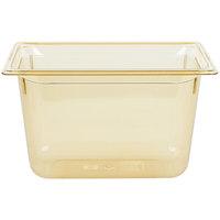 Vollrath 9038410 Super Pan® 1/3 Size Amber High Heat Food Pan - 8 inch Deep