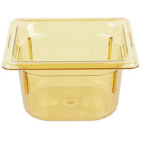 Vollrath 9064410 Super Pan® 1/6 Size Amber High Heat Food Pan - 4 inch Deep