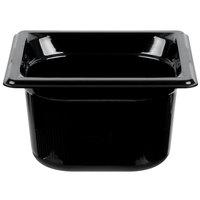 Vollrath 9064420 Super Pan® 1/6 Size Black High Heat Food Pan - 4 inch Deep