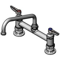 T&S B-2280-060X-CR Deck Mount Mixing Faucet with 8 inch Adjustable Centers, 8 inch Swing Nozzle, and Cerama Cartridges