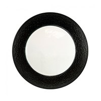 10 Strawberry Street HAL-BLK340 13 inch Colored Rim Black Rim Glass Charger Plate