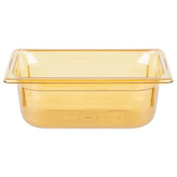 Vollrath 9044410 Super Pan® 1/4 Size Amber High Heat Food Pan - 4 inch Deep