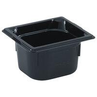 Vollrath 9062420 1/6 Size Black High Heat Food Pan - 2 1/2 inch Deep