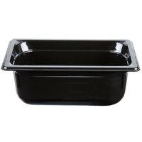 Vollrath 9044420 Super Pan® 1/4 Size Black High Heat Food Pan - 4 inch Deep