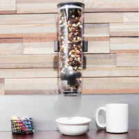 Zevro KCH-06138 SmartSpace 4 Liter Single Canister Wall Mount Dry Food Dispenser