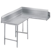 Advance Tabco DTC-K70-60 Standard 5' Stainless Steel Korner Clean L-Shape Dishtable