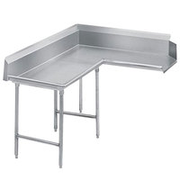 Advance Tabco DTC-K70-72 Standard 6' Stainless Steel Korner Clean L-Shape Dishtable