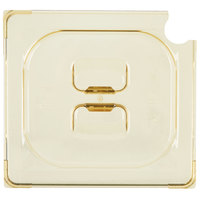 Vollrath 34600 Super Pan® 1/6 Size Amber High Heat Slotted Cover