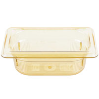 Vollrath 9092410 Super Pan® 1/9 Size Amber High Heat Food Pan - 2 1/2 inch Deep