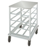 Advance Tabco CRSS10-54 Spec Line Half Size Mobile Aluminum Can Rack with Stainless Steel Top