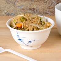 Thunder Group 3008BB Blue Bamboo 6 oz. Round Melamine Rice Bowl - 24/Pack