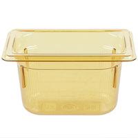 Vollrath 9094410 1/9 Size Amber High Heat Food Pan - 4 inch Deep