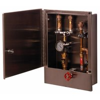 T&S B-2339-LR Hose Reel Control Cabinet with Control Valve, Check Valves, Thermometer, and Water Hammer Arrestor