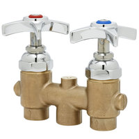 T&S B-2297 Mixing Valve with 3 inch Centers and 4 Arm Handles