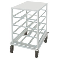 Advance Tabco CRSS10-72 Spec Line Half Size Mobile Aluminum Can Rack with Stainless Steel Top