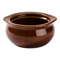 Acopa 12 oz. Brown Stoneware Onion Soup Crock / Bowl - 24/Case