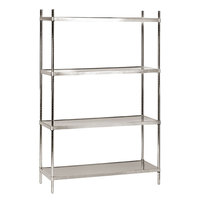 Advance Tabco SHC-1836 18 inch x 36 inch Solid Stainless Steel Shelving Combo