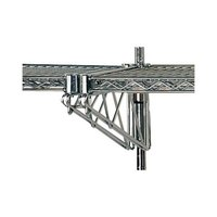 Advance Tabco AABM-14 14 inch Adjustable Double Mid-Mounted Bracket for Wall Mounted Shelving Systems