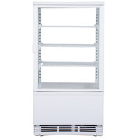 Excellence FSG-3 White Countertop Display Refrigerator with Swing Door - 2.5 cu. ft.