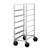 Advance Tabco PL6-12 Half Height Aluminum Platter Cart - Six 12 inch Trays