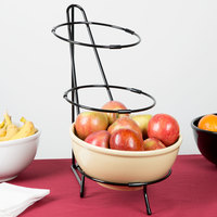 Cal-Mil C1222-10 Black Iron Three Tier Round Bowl Stand - 10 inch x 18 inch x 18 inch