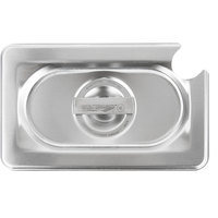 Vollrath 93900 1/9 Size Long Stainless Steel Solid Cover for Super Pan 3