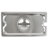 Vollrath 94300 1/3 Size Stainless Steel Slotted Cover for Super Pan 3