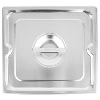 Vollrath 93110 2/3 Size Stainless Steel Solid Cover for Super Pan 3