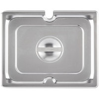 Vollrath 94900 1/9 Size Stainless Steel Slotted Cover for Super Pan 3