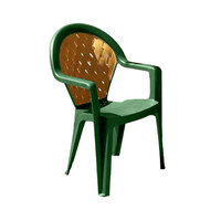 Grosfillex 49362078 / US362078 Amazona Amazon Green Highback Stacking Resin Armchair