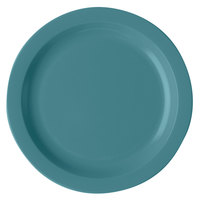 Cambro 10CWNR401 Camwear 10 inch Slate Blue Polycarbonate Narrow Rim Plate - 48/Case