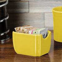 Homer Laughlin 479320 Fiesta Sunflower 3 1/2 inch x 2 3/8 inch Sugar Caddy - 12/Case