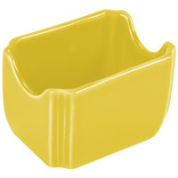 Homer Laughlin 479320 Fiesta Sunflower 3 1/2 inch x 2 3/8 inch Sugar Caddy - 12/Case