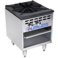 Bakers Pride BPSP-18J-16 Restaurant Series Natural Gas Wok Range with 16 inch Burner - 125,000 BTU