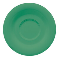 GET SU-2-FG Diamond Mardi Gras 5 1/2 inch Rainforest Green Melamine Saucer for GET C-108, TM-1308, and TM-1208 Mugs - 48 / Case