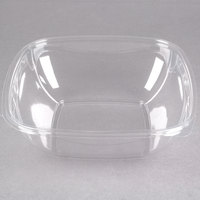 Sabert 19064B150 Bowl2 64 oz. Clear PETE Square Deli / Catering Bowl   - 150/Case