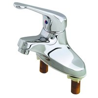 T&S B-2711-LH Centerset Single Lever Faucet with 4 inch Centers, Long Handle, Temperature Limit Adjustment, and Cerama Cartridge