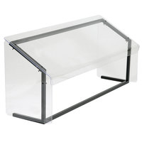 Carlisle 916007 60 inch x 12 1/4 inch x 13 1/4 inch Aluminum Standard Single Sneeze Guard for Five Star Buffet Bars