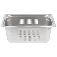 Vollrath 90363 Super Pan 3® 1/3 Size Anti-Jam Stainless Steel Perforated Steam Table / Hotel Pan - 6 inch Deep