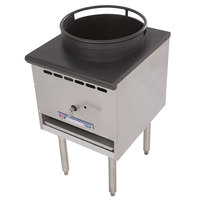 Bakers Pride BPSP-18J-13 Restaurant Series Natural Gas Wok Range with 13 inch Burner - 125,000 BTU