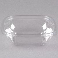 Sabert 15008B500 Bowl2 8 oz. Clear PET Square Deli / Catering Bowl - 500/Case