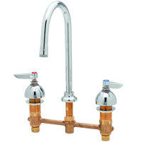 T&S B-2850-WS Deck Mount WaterSense Easy Install 1.5 GPM Faucet with 8 inch Centers, 10 3/4 inch Gooseneck, and Eterna Cartridges