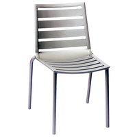 BFM Seating DV450TS South Beach Outdoor / Indoor Stackable Aluminum Side Chair