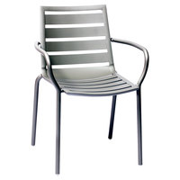 BFM Seating DV350TS South Beach Outdoor / Indoor Stackable Aluminum Arm Chair