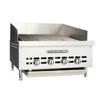Bakers Pride XX-4GS Natural Gas 26 1/4 inch 4 Burner Charbroiler - 72,000 BTU