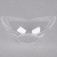 Fineline 6303-CL Tiny Temptations 5 inch x 2 5/8 inch Tiny Tureens Clear Plastic Bowl - 12/Pack