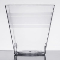 Fineline Tiny Temptations 6403-CL 5.4 oz. Tiny Tumblers Clear Plastic Cup - 10/Pack